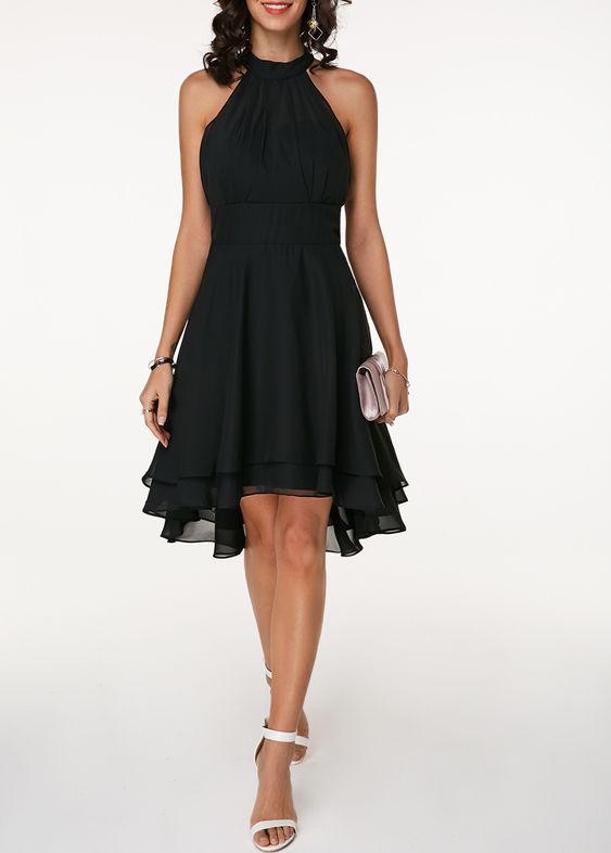 Chiffon Cape Gown Dress